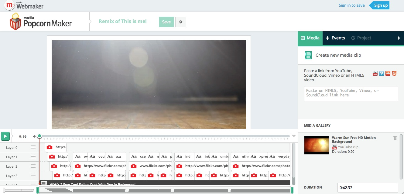 Mozilla's Popcorn Maker for Enhanced Video eLearning in HTML5