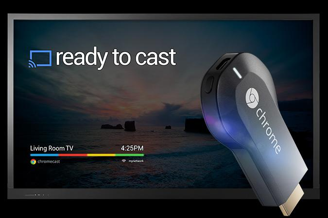 Google Chromecast and TV screen