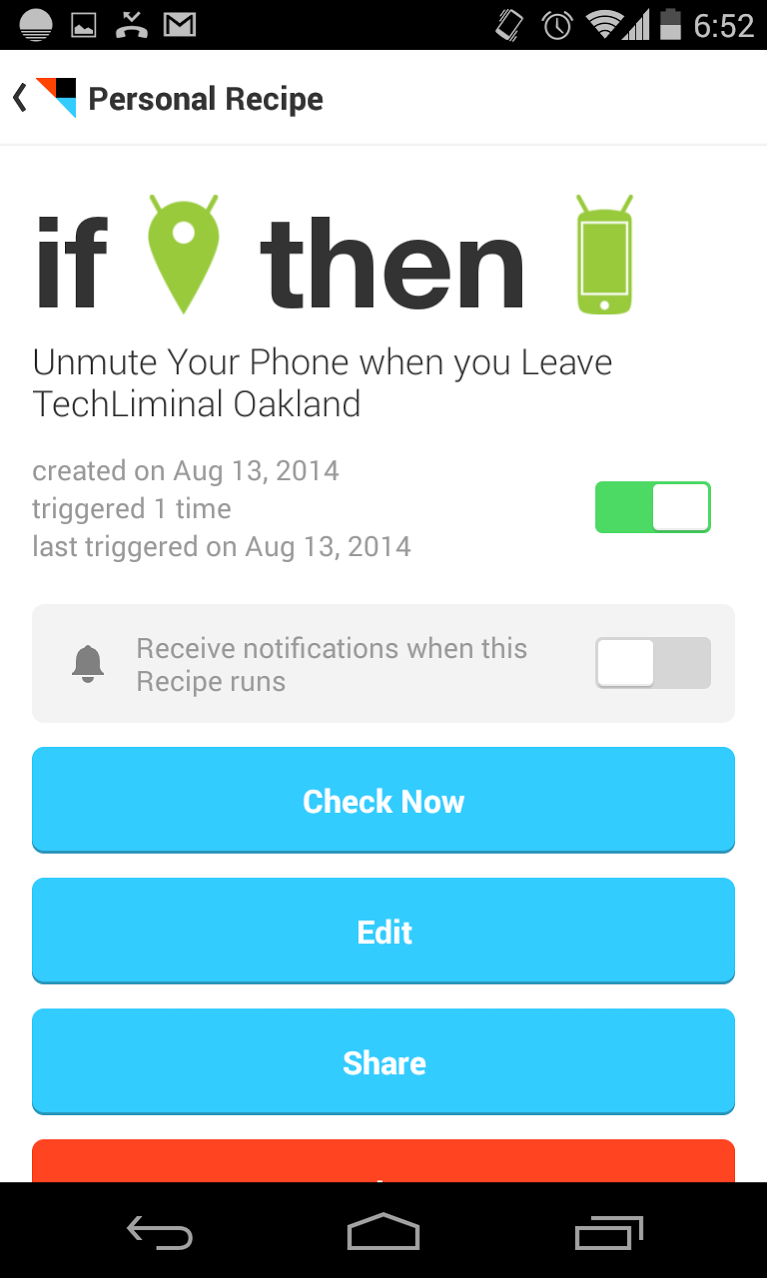 Automatically Mute Your Phone at School or Work with IFTTT.com