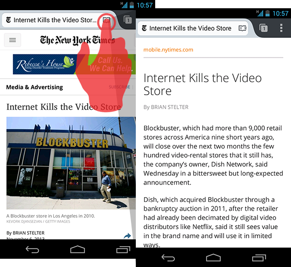 Image of Firefox Reader mode for Android