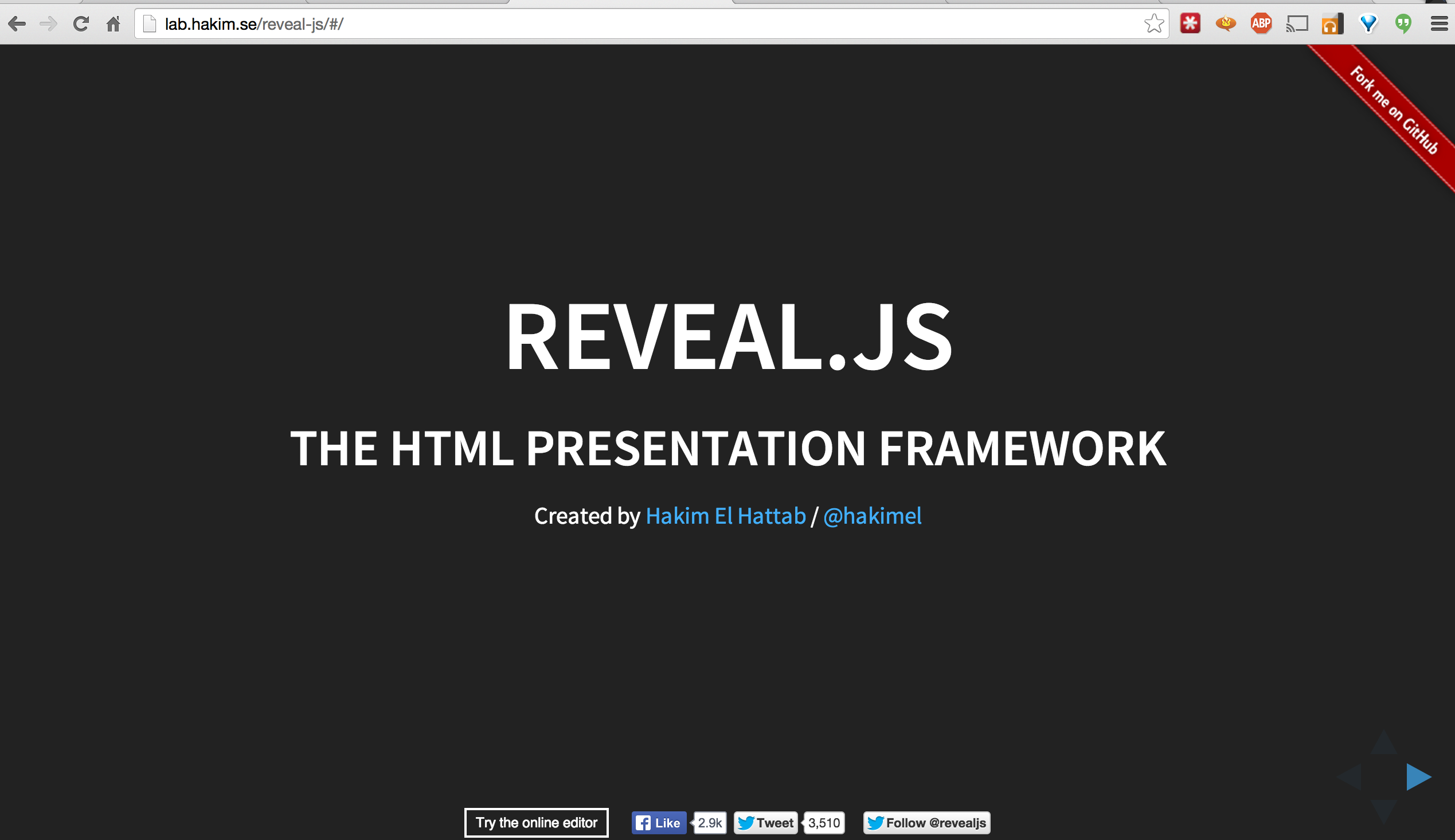 HTML5 Presentations from Markdown to Reveal.js