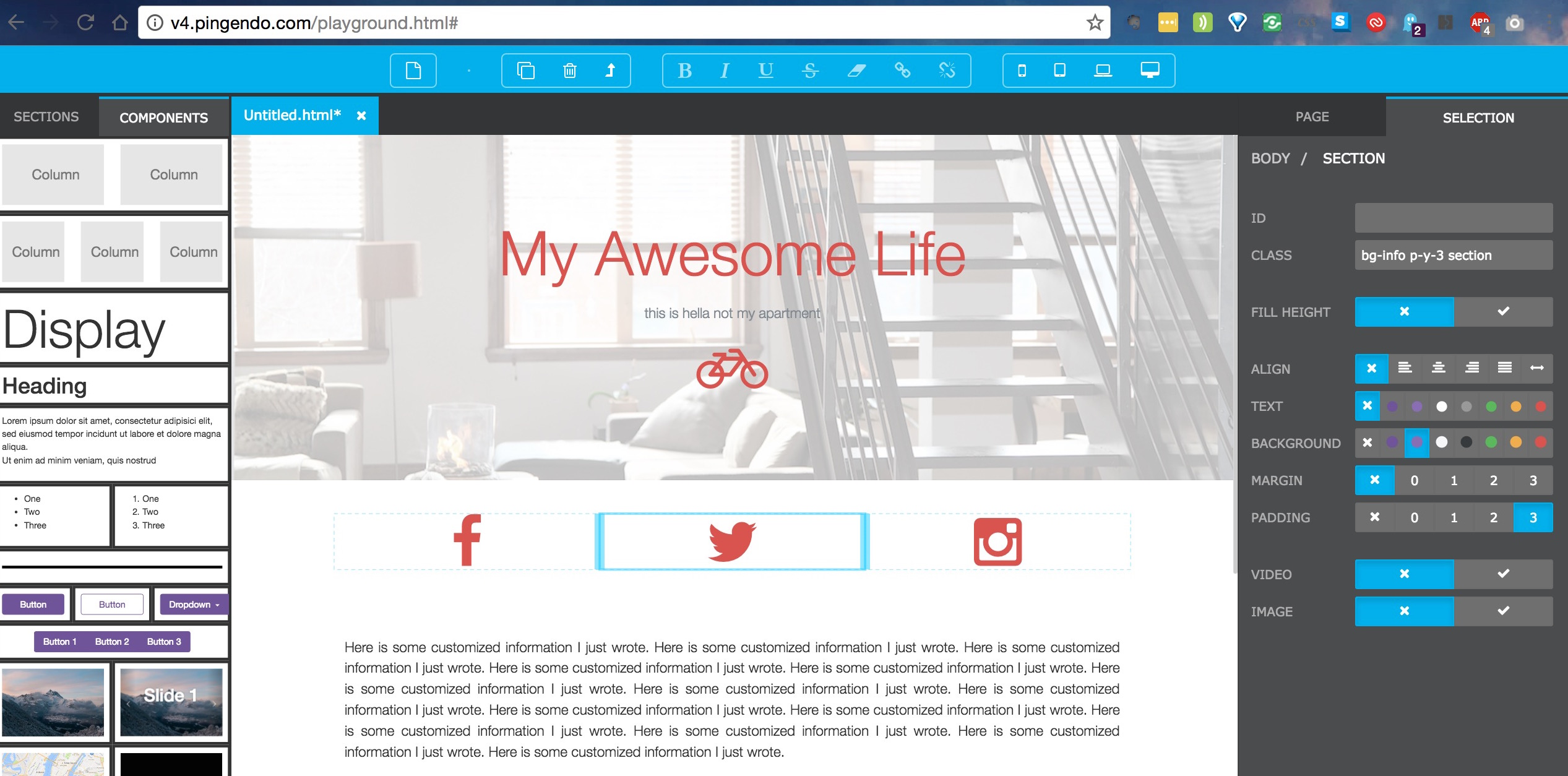 Site Builder Pingendo Lets You Build with Bootstrap Visually