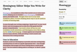 Hemingway Editor Helps Students and Teachers Write for Clarity
