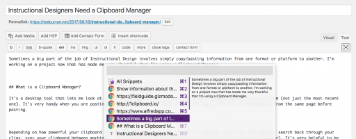 Instructional Designers Need a Clipboard Manager (and So Do You!)