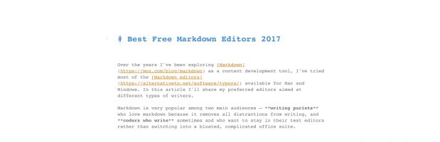 Best Markdown Editors for Writers and Coders 2017